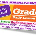 Grade 1 Daily Lesson Log (DLL)