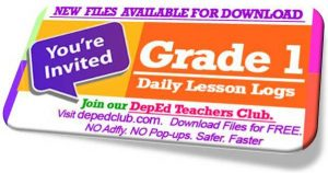 Grade 1 daily lesson log