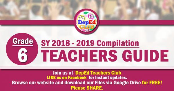 1st Quarter Grade 6 Teachers Guide (TG) | DepEd Club