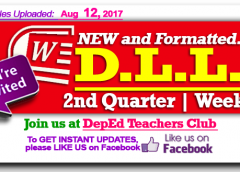 2nd quarter week 1 daily lesson log