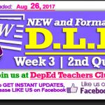 Week 3 - 2nd Quarter - Daily Lesson Log