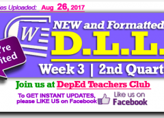 Week 3 - 2nd Quarter - Daily Lesson Log