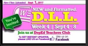 Week 4 - 2nd Quarter - Daily Lesson Log