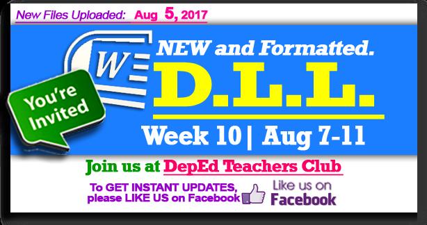 week 10 daily lesson log