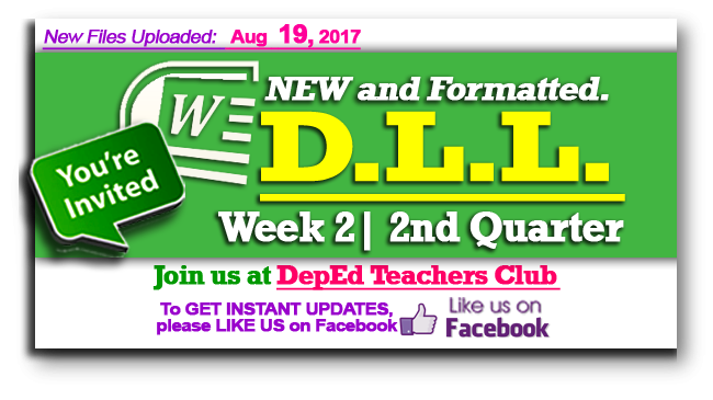 Week 2 - 2nd Quarter - Daily Lesson Log (DLL) (Formatted)