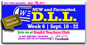 Week 6 - 2nd Quarter - Daily Lesson Log