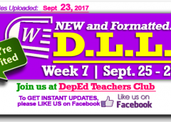 Week 7 - 2nd Quarter - Daily Lesson Log