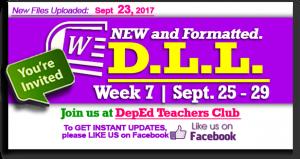 Week 7 - 2nd Quarter - Daily Lesson Log