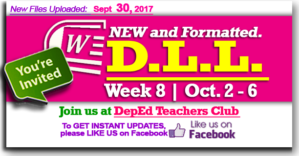 Week 8 - 2nd Quarter - Daily Lesson Log