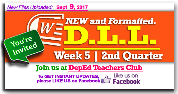 week 5 daily lesson log