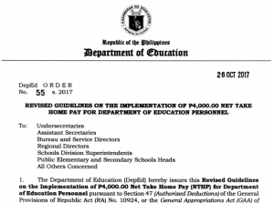 Deped Order 55, s. 2017