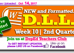 Week 10 - 2nd Quarter - Daily Lesson Log