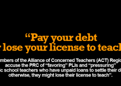 pay your debt or lose your license to teach