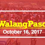 #walangpasok october 16 2017 2