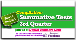 3rd Quarter Summative Test