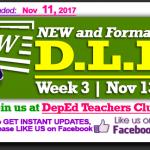 Week 3 - 3rd Quarter - Daily Lesson Log