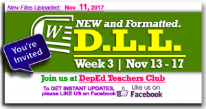 Week 3 - 3rd Quarter - Daily Lesson Log