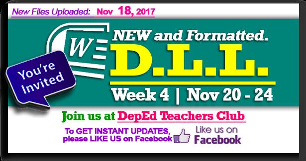 Week 4 - 3rd Quarter - Daily Lesson Log