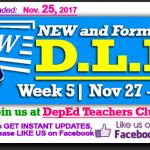 Week 5 - 3rd Quarter - Daily Lesson Log