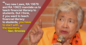 Briones Answers Issues on Teachers' Debts