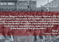 extra medical benefits for teachers