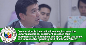 Teachers Can Have Higher Allowances, Take-home Pay by Jan. 1
