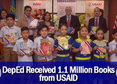 DepEd Received 1.1 Million Books from USAID