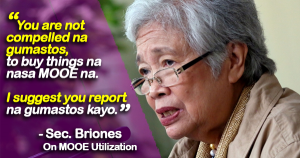 Briones on MOOE