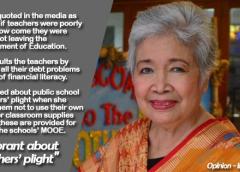Ignorant about teachers' plight