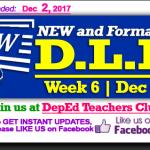 Week 6 - 3rd Quarter - Daily Lesson Log