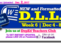 Week 6 - 3rd Quarter - Daily Lesson Log