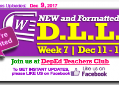 Week 7 - 3rd Quarter - Daily Lesson Log