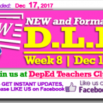Week 8 - 3rd Quarter - Daily Lesson Log