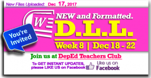 Week 8 - 3rd Quarter - Daily Lesson Log
