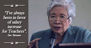 briones on salary increase for teachers