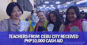cash aid for teachers in cebu city
