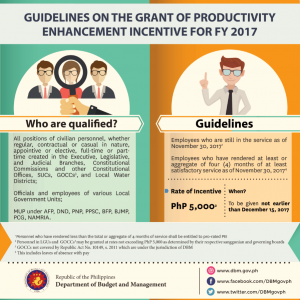 guidelines on the grant of Productivity Enhancement Incentive (PEI)
