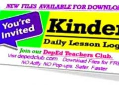 4th Quarter KINDERGARTEN Daily Lesson Log