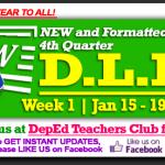 4th Quarter Daily Lesson Log