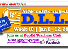 Week 10 - 3rd Quarter - Daily Lesson Log1