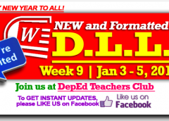 Week 9 - 3rd Quarter - Daily Lesson Log