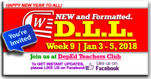 Week 9 - 3rd Quarter - Daily Lesson Log