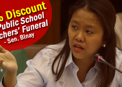 20% Discount on Public School Teachers' Funeral