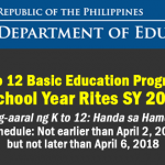 graduation rites 2018