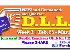 Week 7 - 4th Quarter - Daily Lesson Log