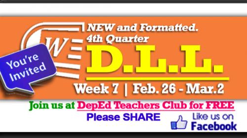 Week 7 - 4th Quarter - Daily Lesson Log