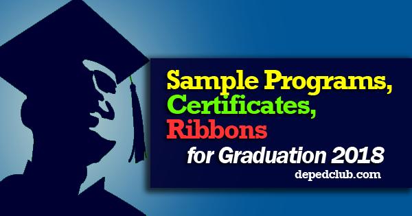 Sample Programs, Certificates, Ribbons