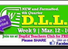Week 9 - 4th Quarter - Daily Lesson Log