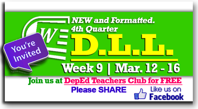Week 9 - 4th Quarter - Daily Lesson Log