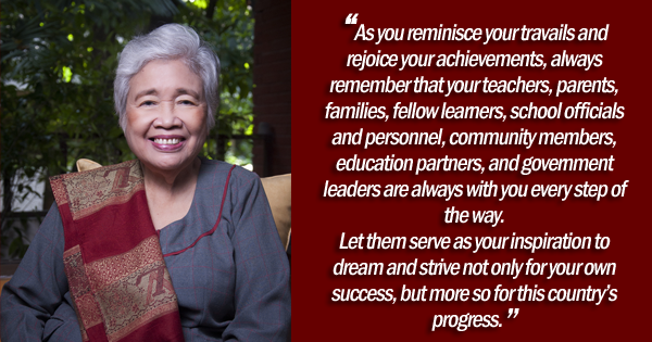 sec briones graduation message 2018